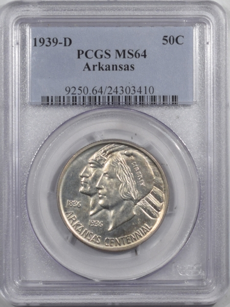 New Certified Coins 1939-D ARKANSAS COMMEMORATIVE HALF DOLLAR – PCGS MS-64 PREMIUM QUALITY!