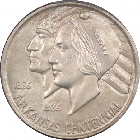 New Certified Coins 1939-S ARKANSAS COMMEMORATIVE HALF DOLLAR – PCGS MS-64 PQ! & CAC APPROVED!