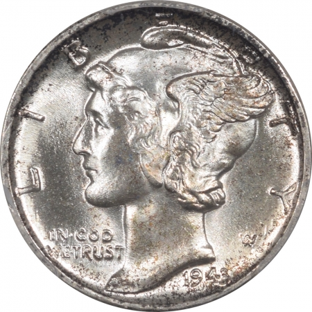 New Certified Coins 1943 MERCURY DIME PCGS MS-67 FRESH & PQ, NEARLY FB!
