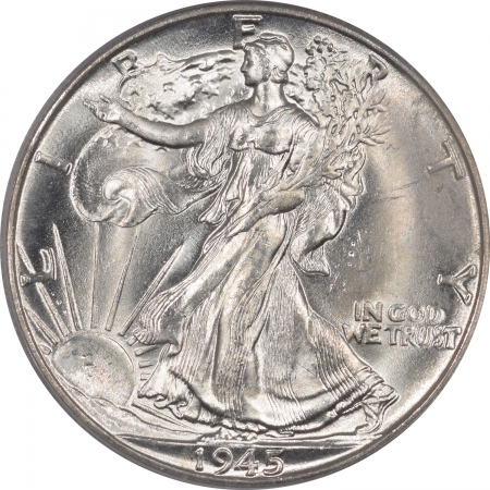 New Certified Coins 1945-D WALKING LIBERTY HALF DOLLAR – PCGS MS-65, FRESH, OGH & PREMIUM QUALITY!