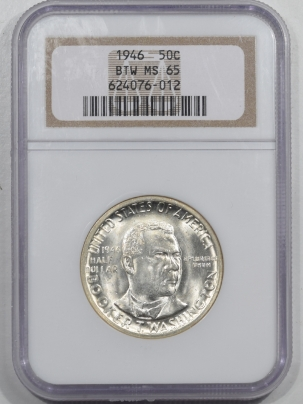 New Certified Coins 1946 BOOKER T WASHINGTON COMMEMORATIVE HALF DOLLAR – NGC MS-65 PREMIUM QUALITY!