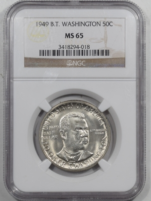 New Certified Coins 1949 BTW COMMEMORATIVE HALF DOLLAR – NGC MS-65 SUPERB & PREMIUM QUALITY!