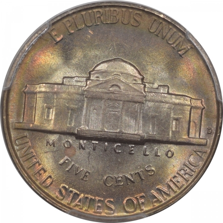 New Certified Coins 1950-D JEFFERSON NICKEL – PCGS MS-66, GORGEOUS COLOR! VIRTUALLY FS! PQ!