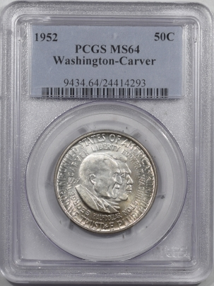 New Certified Coins 1952 WASHINGTON-CARVER COMMEMORATIVE HALF DOLLAR – PCGS MS-64
