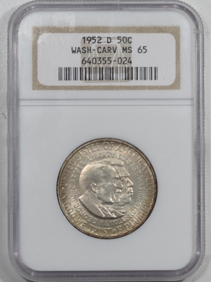 New Certified Coins 1952-D WASHINGTON-CARVER COMMEMORATIVE HALF DOLLAR – NGC MS-65