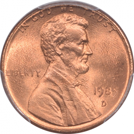 Lincoln Cents (Wheat) 1985-D LINCOLN CENT – PCGS MS-66 RD