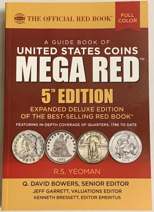 New Certified Coins GUIDE BOOK TO UNITED STATES COINS, MEGA RED BOOK 5TH EDITION, 1500+ PGS, RET-$69