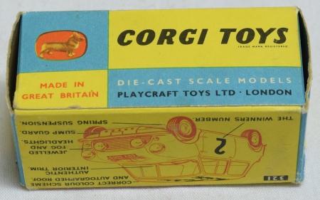Corgi CORGI #339 1966 MONTE-CARLO MINI COOPER S, NEAR-MINT W/ VG/EXC CORRECT BOX