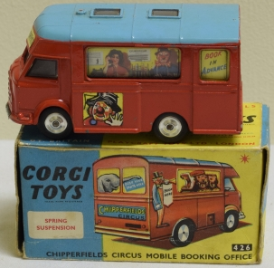 Corgi CORGI #426 CHIPPERFIELDS CIRCUS MOBILE BOOKING OFFICE, NR-MINT, VG ORIGINAL BOX