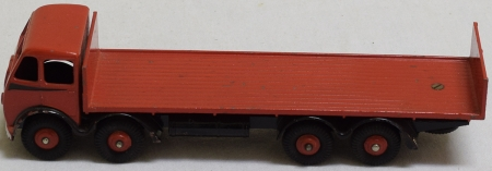 Vintage Diecast Toys DINKY #503 FODEN FLAT TRUCK W/ TAILBOARD, RED & BLACK FLASH, EXC W/ VG BOX, RARE