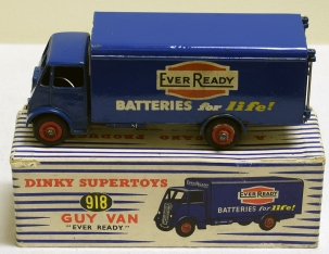 Vintage Diecast Toys DINKY #918 GUY VAN, EVER READY, EXC MODEL W/ VG BOX, SCARCE