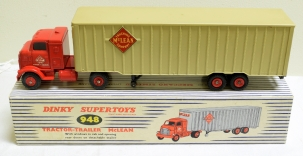 Dinky DINKY #948 TRACTOR-TRAILER MCLEAN, EXC TO NEAR MINT W/ EXC BOX; LOWERED PRICE