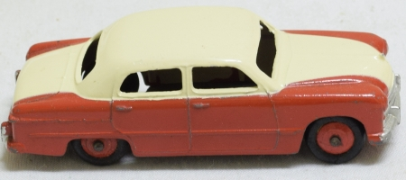 Dinky DINKY #170 FORD FORDOR, RED LOWER, CREAM UPPER, RED HUBS, EXC W/ CORRECT VG BOX