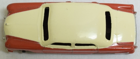 Vintage Diecast Toys DINKY #170 FORD FORDOR, RED LOWER, CREAM UPPER, RED HUBS, EXC W/ CORRECT VG BOX
