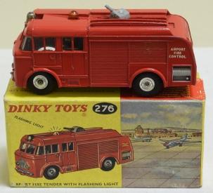 Vintage Diecast Toys DINKY #276 AIRPORT FIRE TENDER W/ FLASHING LIGHT, NEAR-MINT W/ VG BOX