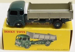 Dinky FRENCH DINKY #33B SIMCA CARGO DUMPER; EXC W/ BRIGHT EXC BOX (W/ MINOR ISSUES)