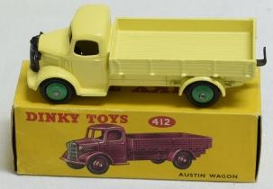 Vintage Diecast Toys RARE DINKY #412 AUSTIN WAGON, LEMON YELLOW, MID-GREEN HUBS, MINT, VG CORRECT BOX