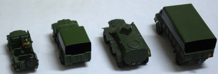 Dinky DINKY #699 MILITARY VEHICLES GIFT SET, EXC MODELS (4) IN HIGH-QUALITY REPRO BOX!