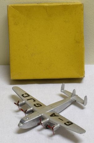 "Dinky DINKY #70A AVRO ""YORK"" AIR LINER, NEAR-MINT W/ VG+/EXC ORIGINAL YELLOW BOX"