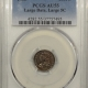 New Certified Coins 1833 CAPPED BUST HALF DIME – PCGS MS-62, LUSTROUS, NICE SKIN!