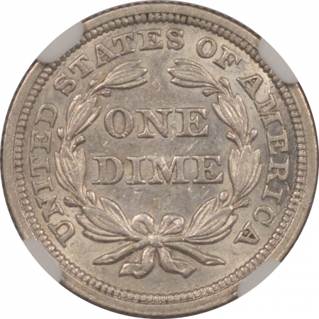 New Certified Coins 1853 LIBERTY SEATED DIME – ARROWS – NGC AU-58, FLASHY WHITE