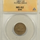 New Certified Coins 1857 FLYING EAGLE CENT, DOUBLED DIE OBVERSE, FS-101, NGC XF-40