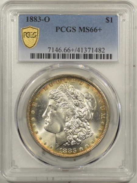 Morgan Dollars 1883-O MORGAN DOLLAR – PCGS MS-66+ RAINBOW COLOR! GORGEOUS & PREMIUM QUALITY!