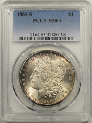 Coin World/Numismatic News Featured Coins 1885-S MORGAN DOLLAR – PCGS MS-63 FRESH & FLASHY!