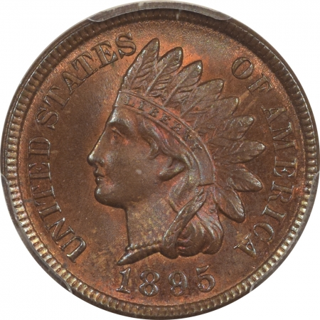 New Certified Coins 1895 INDIAN CENT – PCGS MS-64 RB, REALLY PRETTY COLOR!