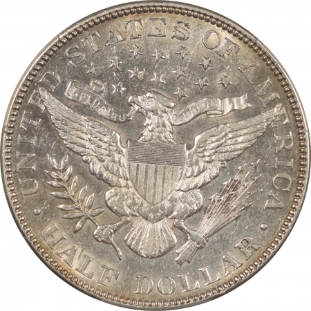 New Certified Coins 1901 BARBER HALF DOLLAR – PCGS AU-53, WHITE, FLASHY & WELL STRUCK