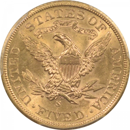 New Certified Coins 1901-S $5 LIBERTY GOLD – PCGS MS-63