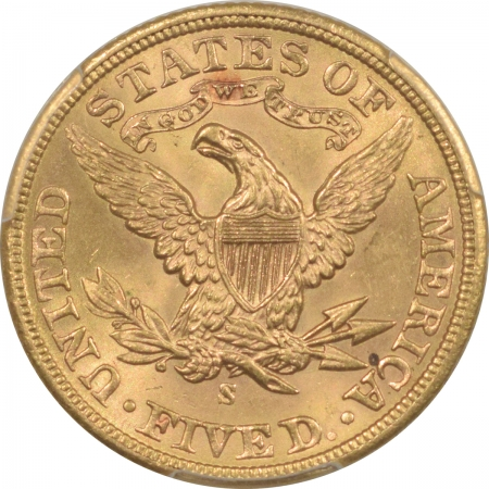 U.S. Certified Coins 1903-S $5 LIBERTY GOLD – PCGS MS-64, FLASHY, SOMEWHAT TOUGHER DATE!