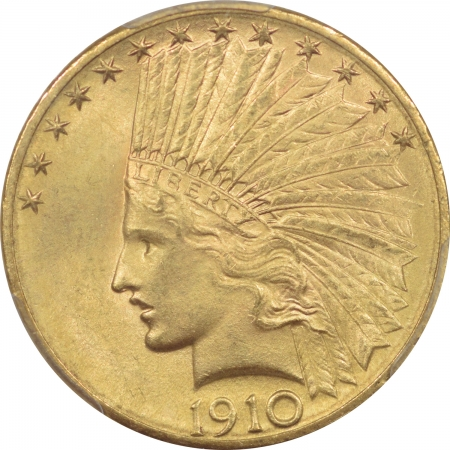 New Certified Coins 1910-D $10 INDIAN HEAD GOLD – PCGS MS-64 CHOICE W/ SMOOTH SURFACES!