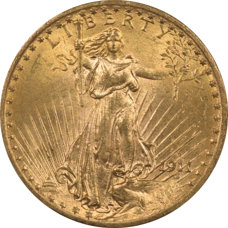 New Certified Coins 1911-D $20 ST GAUDENS GOLD – PCGS MS-64 FLASHY!