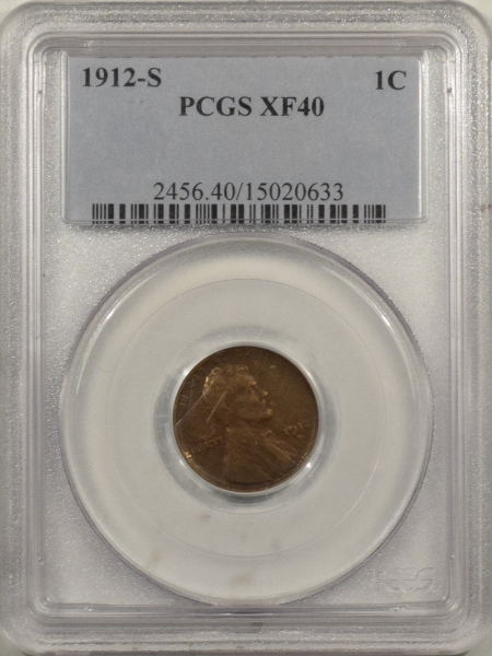 New Certified Coins 1912-S LINCOLN CENT – PCGS XF-40