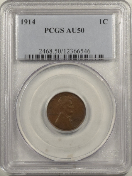 New Certified Coins 1914 LINCOLN CENT – PCGS AU-50