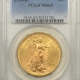 New Certified Coins 1914-S $20 ST GAUDENS GOLD – NGC MS-65