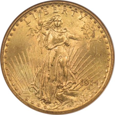 New Certified Coins 1914-S $20 ST GAUDENS GOLD – NGC MS-64