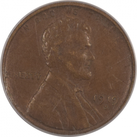 Lincoln Cents (Wheat) 1919-S LINCOLN CENT – PCGS AU-50