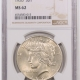 New Certified Coins 1925-S PEACE DOLLAR PCGS MS-63, FLASHY & WELL STRUCK
