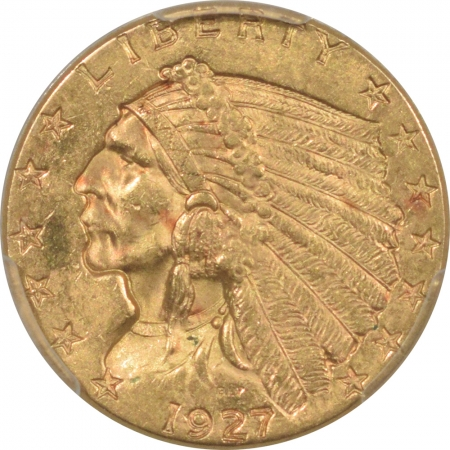 $2.50 1927 $2.50 INDIAN GOLD – PCGS MS-62