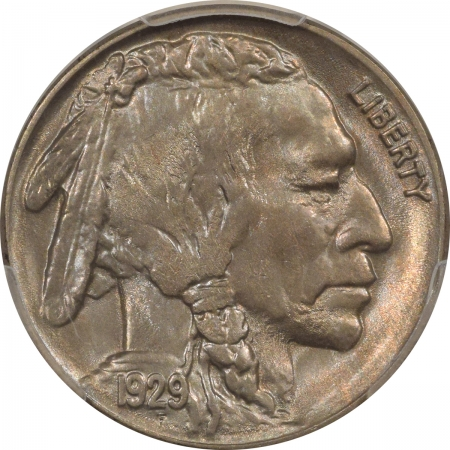 New Certified Coins 1929-S BUFFALO NICKEL – PCGS MS-66+ REALLY PRETTY, VIRTUALLY SUPERB!