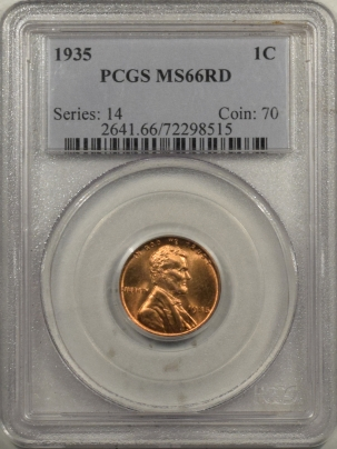 Lincoln Cents (Wheat) 1935 LINCOLN CENT – PCGS MS-66 RD