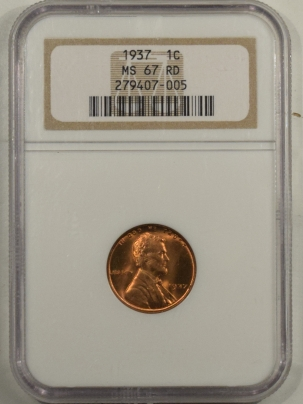 Lincoln Cents (Wheat) 1937 LINCOLN CENT – NGC MS-67 RD