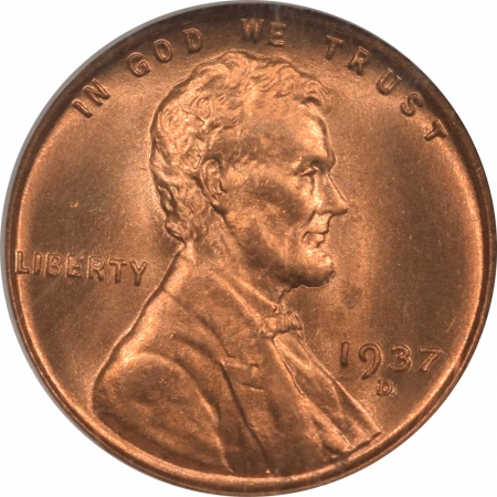 New Certified Coins 1937-D LINCOLN CENT – NGC MS-66 RD