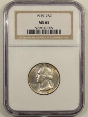 New Certified Coins 1939 WASHINGTON QUARTER – NGC MS-65 FRESH & PREMIUM QUALITY!