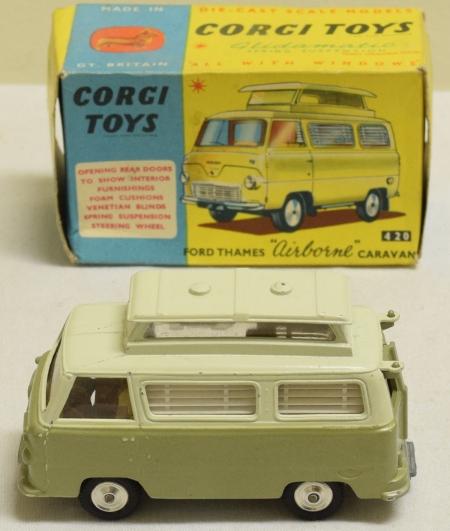 "Corgi CORGI 420 FORD THAMES ""AIRBORNE"" CARAVAN, NEAR MINT MODEL W/ VG BOX"