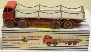Dinky DINKY 905 FODEN FLAT TRUCK CHAIN LORREY, EXCELLENT MODEL W/ EXCELLENT BOX!
