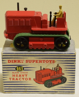 Dinky DINKY 963 BLAW KNOX HEAVY TRACTOR, NEAR-MINT MODEL W/ EXCELLENT BOX!