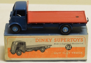 Dinky DINKY 512 GUY FLAT TRUCK, EXCELLENT MODEL W/ VG BOX!